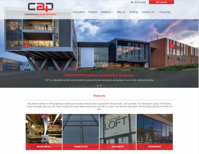 CAP ramps up its B2B interface by offering GET A QUOTE functionality oN the recently launched website (see upper right hand corner).