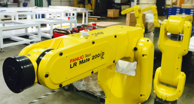 The Fanuc LR Mate (above) is Setpoint's most commonly used robot in today's robot applications. – Photo courtesy of Setpoint.