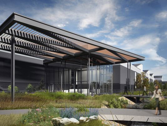 Rendering of Woodward's Ft. Collins Industrial Turbomachinery Systems facility. Thanks to the Ft. Collins Coloradoan